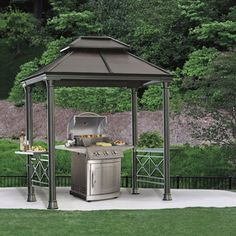 Exterior: Classic Grill Gazebo Accessories from Grill Gazebo For Backyard Costco Gazebo, Gazebo Sale, Grill Gazebo, Backyard Gazebo, Grill Canopy, Gazebo Canopy, Shade Canopy, Outdoor Rooms, Outdoor Gardens