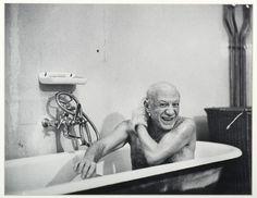 Picasso au bain, 8 février 1956.