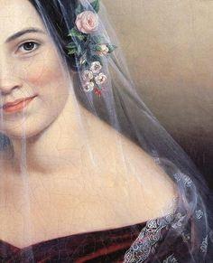 Sarah Miriam Peale (American painter, 1800-1885) Veiled Woman 1830