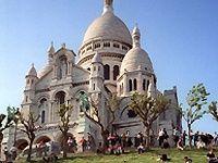 The Sacré-Cœur Basilica at the summit of the butte Montmartre, the highest point in the city. #SacredHeart > Paris Historic + Montmartre + Louvre Museum Special Package
