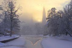 Soluppgång, vinter, Uppsala – BeautifulUppsala