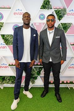Stormzy wearing Burberry at Wimbledon in London