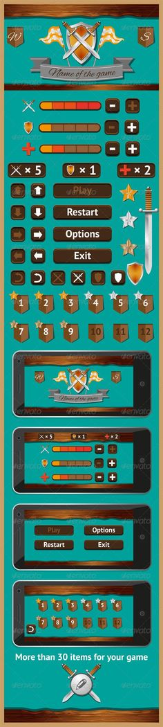 Graphical User Interface for Games 4 - User Interfaces Web Elements #mobilegui: