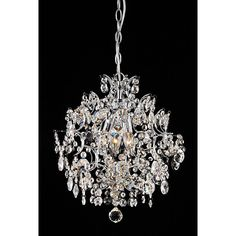 Make your home sparkle with elegance and sophistication by hanging this chrome crystal chandelier. Featuring brilliant crystal ball accents and three lights, this ornate chandelier will make your dining room or foyer look right out of the magazines.