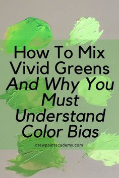 Green has always been a troublesome color for beginners. Why that is the case, I'm not sure. It may have something to do with a lack of understanding of how to mix color. Or maybe it has something to do with how we actually perceive green.