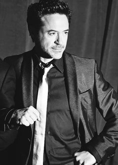 Robert Downey Jr. Again. In black and white. Again.