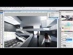 Architectural Illustration Tutorial: Adding people via Photoshop (dude's a genius)