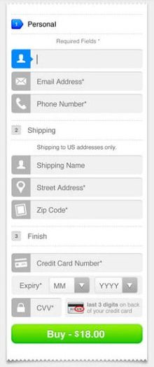 #mobile #form #input