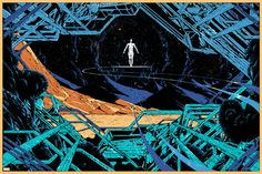 Mondo is working together with Marvel to release prints for different characters from their Universe. The first one out is my print of The Silver Surfer. Will be sold tomorrow trough Mondos site
