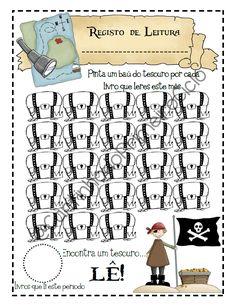 Cantinho do Primeiro Ciclo: Registo da Leitura - Tema dos Piratas