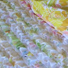 Vintage Sheet Ruffle Quilt pattern $7.00 via http://www.etsy.com/shop/haworth?ref=seller_info