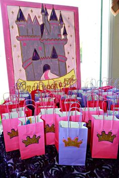 Princess Birthday Party Favors!  See more party planning ideas at CatchMyParty.com!