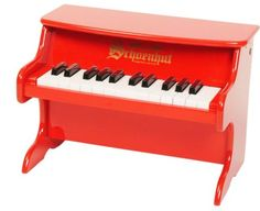 music, kids room, kids, instrument, kids instruments, little red piano, piano,   Schoenhut's My First Piano