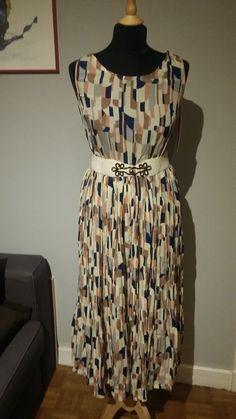 1 robe longue fluide en mousseline motifs vintage 2 t