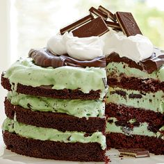 Quick & Easy Recipes – Mint Chocolate Chip Ice Cream Cake