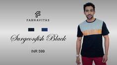 Buy Surgeonfish Black T- shirts at Fabnavitas