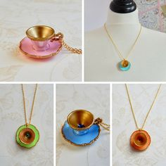 Alice in Wonderland  Tea Cup Necklace   by TheGreenAntiqueTrunk