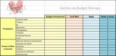 Tableau pour calculer son budget mariage | www.madmoizellebeebee.com/organisation/calculer-son-budget-mariage