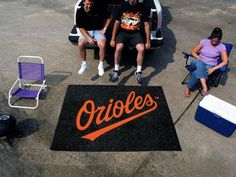 Large Baltimore Orioles Logo Area Rug