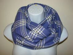 purple plaid infinity scarf flannel Infinity by OtiliaBoutique