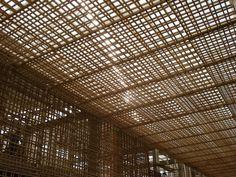 Image 3 of 57 from gallery of Villanueva's Public Library / Meza + Piñol + Ramírez + Torres. Architecture Details, Interior Architecture, Cladding Design, Wooden Screen, Pergola Curtains, Ceiling Design, Restaurant Design, Ceilings, Pergola Shade