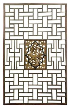A very eclectic inspirationf or a wall screen. Amazing material and golden details New Chinese, Chinese Style, Chinese Interior, Stencil Printing, Japan Architecture, Wooden Screen, Chinese Furniture, Asian Design, Indochine