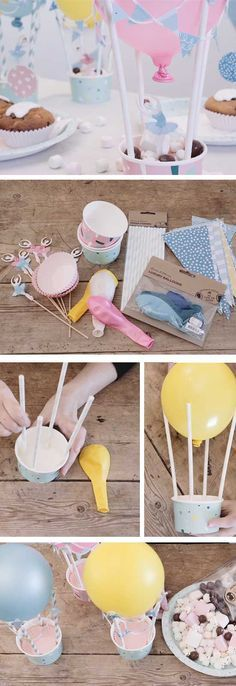Hot air Balloons | DIY Baby Shower Decor Ideas for a Girl