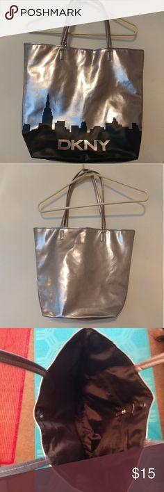 DKNY Large Handbag Shiny Silver Tote Bag Brand New! DKNY Large Handbag Shiny Silver Tote Bag. DKNY Bags Shoulder Bags