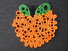 Quilled Paper Art Orange-Green Fruit Coaster , Kitchen - Table Decorations