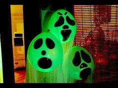 DIY Halloween Ghost Glow Balloons - Yard Decorations! Indoor Halloween Decorations 2017 - YouTube