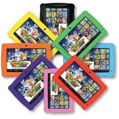 "ClickN KIDS 7"" Tablet Educational Toy 8GB Memory Android Camera Wifi 8 Colors"