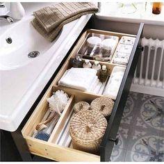 Roll Out: 17 Ways to Organize Drawers | Hemnes, Bathroom Vanities ...
