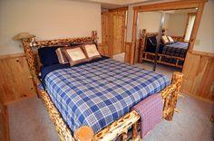 Bedroom Loft, Two Bedroom, Bedrooms, Stone Tile Flooring, Stone Tiles, King Beds, Queen Beds, Log Bed, Bedroom Carpet