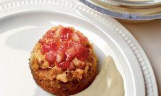 Brot-Rhabarber-Pudding mit Honig-Crème - Rezepte - Schweizer Milch Baked Potato, Muffin, Pie, Baking, Breakfast, Ethnic Recipes, Desserts, Food, Honey