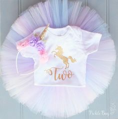 Unicorn First Birthday Outfit Girl Unicorn Tutu Set Unicorn
