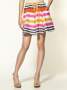 Piperlime | Striped Tie Skirt
