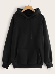 To find out about the Raglan Sleeve Kangaroo Pocket Hoodie at SHEIN, part of our latest Sweatshirts ready to shop online today! Trendy Hoodies, Cute Sweatshirts, Damen Sweatshirts, Hooded Sweatshirts, Cool Outfits, Casual Outfits, Fashion Outfits, Fashion Styles, Sweatpants Outfit