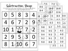 Subtraction Bingo freebie from My Little Classity Class. Math Classroom, Kindergarten Math, Teaching Math, Classroom Ideas, Creative Teaching, Elementary Math, Teaching Ideas, Math For Kids, Fun Math