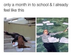 Only A Month In To School & I Already Feel Lik. ~ Memes curates only the best funny online content. The Ultimate cure to boredom with a daily fix of haha, hehe and jaja's. College Humor, College Life, School Life, Homework College, Hate School, College Quotes, Dorm Life, Med School, School Stuff