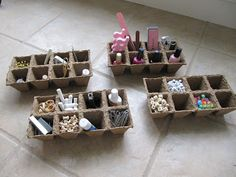 Organize With Seedling Trays