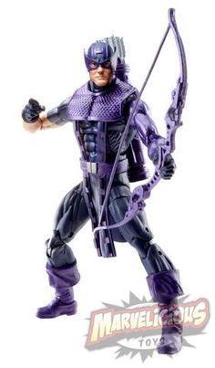 2013 ROCKET RACOON SERIES - HAWKEYE CLASSIC6-Inch Action Figure Assortment (Approximate Retail Price: $14.99; Ages: 5 & up; Available: Spring 2013) The fan-favorite, highly requested action figure line is back in 2013 with 27 new figures to collect! Each 6-inch MARVEL LEGENDS figure depicts a classic or modern favorite character from MARVEL COMICS, and features detailed sculpting and unparalleled articulation.