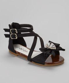 Black Crisscross Julia Sandal #zulily #zulilyfinds