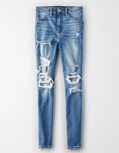 AE Ne(X)t Level Curvy High-Waisted Jegging Thank you American Eagle for sponsoring today's post. Ae Jeans, Curvy Jeans, Jeans Pants, Jean Shorts, Black Jeans, Ripped Jeggings, Ripped Skinny Jeans, American Eagle Outfitters, Jogger Shorts