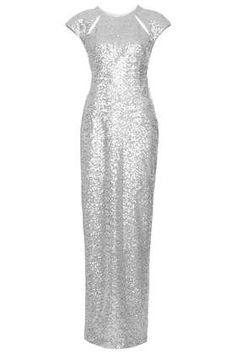 Sequin Cut Out Back Maxi Dress - Maxi & Midi Dresses - Dresses  - Clothing