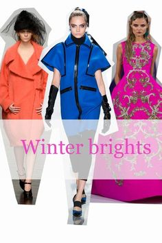 Just because the nights are drawing in and the clouds are heavy in the sky isn't an excuse to water down your summer palette. Get your winter wardrobe coloured in with oranges, blues and pinks to give you fade-free fashion all year round.