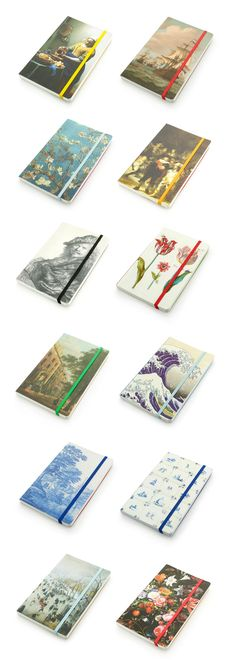 Softcover Notebooks, at Museum-Webshop.com, with high quality printed art reproductions of Dutch Masterpieces of Rembrandt , Vermeer, Van Gogh, Avercamp and many more - € 6,50 - #museum #museumshop #museumwinkel #stationery