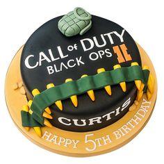 Birthday celebration cakes for boys aged 4 to teenage Black Ops Cake, Fondant Cakes, Cupcake Cakes, Fondant Icing, Army Birthday Cakes, 18th Birthday Cake For Guys, Birthday Ideas, Teen Boy Cakes, Playstation Cake