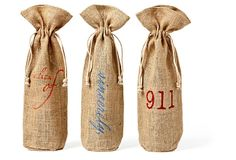 Asst of 3 Party Wine Bags, Set- love these!