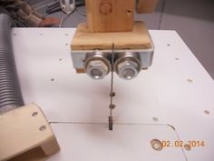 Jigsaw table. Convert a low cost jigsaw to an expensive machine.