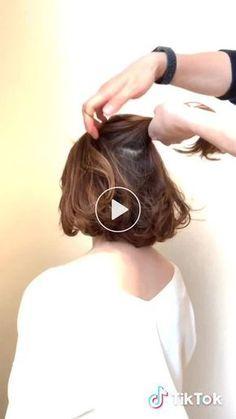 Short Hair Bun, Short Wedding Hair, Cute Hairstyles For Short Hair, Bob Hairstyles, Bun Hair, Wedding Hairstyle, Hairstyle Ideas, Braided Hairstyles, Medium Hair Styles